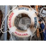 "Throw Ring Floatation Device "" North Shore Houston Marine"" 18"""