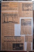 """Framed Newspaper Clippings """"Treasure Hunters Articles Clippings"""" 20""""x30"""""""