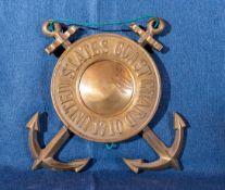 """United States Coast Guard Hanging Emblem """"US Coast 1710"""""""