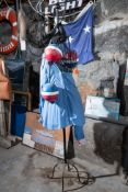 [Lot] Metal Coat Rack w/ (3) Foam Lobster Buoys