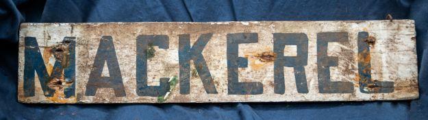 """Mackerel/Weaks Wood Sign 20""""x4"""""""