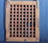 Vintage Wood Ships Hatch w/ Metal Hardware