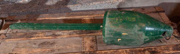 "All Wood Green Lobster Pot Buoy 32"""