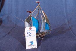 "Sail Boat Décor 9""h"