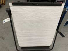 A framed White Board w/ Paper Display