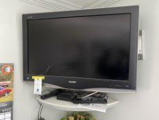 "Sharp Aquos 32"" Flat Panel TV w/Remote & Manual"