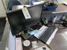 {LOT} Electronics Dell Monitor w.Stand, En Genius Phone, Avaya VOIP Phone, Brother Printer, (NO CC