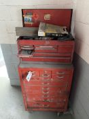 Herbrand 8 Drawer Top Tool Box & 12 Drawer Bottom Toolbox Unknown Name Brand w/Contents