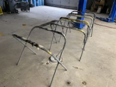 (12) Folding Auto Body Paint Stands