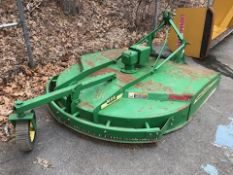 John Deere #MX6 Brush Cutter Hog, 3 Point Hitch PTO, Front & Rear Chains, 6' Deck. Laminated TireSN:
