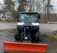 Bobcat 4x4 Utility Vehicle Diesel Enclosed Cab w/ 6' Plow #FMFB69 Dumping Bed, #3650 Hours: 1571