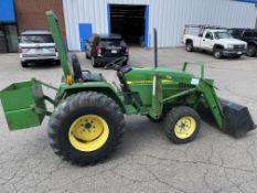 John Deere #790 4x4 Diesel Tractor w/ Yanmar Diesel Loader Arm and 1 Yard Bucket, Rear Weight, PTO,