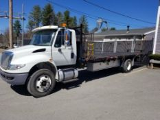 2014 International 4400 Flat Bed Dura Star, 6 Cyl. Diesel, 6 Wheel, Odom: 124,448, GVW: 33,000, See