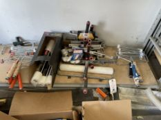 (Lot) Asst. Paint Rollers Covers and handles, In One Area
