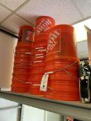 (Lot) Approx.. 30 Orange 5 Gallon Buckets