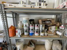 (Lot) Asst. Joint Fillers, Resins, Empty Cans, Etc.