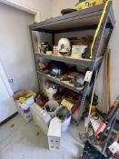 (Lot) Shelf w/ Contents Tools etc.