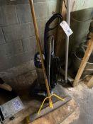 {LOT} Vacuum, Rigid Vac, Janitorial & Suncast Plastic Storage Cabinet