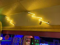 (4) Green & Yellow Neon Lightning Bolts