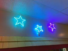 (3) Neon Stars