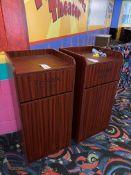 (2) Laminate Enclosed Trash Receptacles
