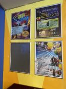 """(8) Wall Mounted Aluminum Poster Frames w/Quick Insert Adjustment (22"""" x 28"""" Inner Dimensions)"""