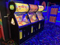 Benchmark Games Wheel Deal 3 Bank Spinning Jackpot Game Token/Coin Operated w/Ticket Dispenser