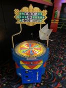 Ice Wheel of Fortune Token Operated Ticket Dispensing Game - 2 Player