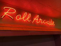 """Roll Arcade"" Neon Sign"