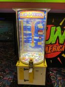 Benchmark Games Slam-A-Winner Token Operated, Ticket Dispensing Game of Chance S/N: 85-3711