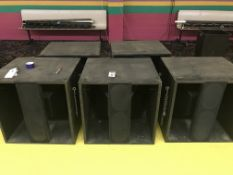 (5) Pyramid #1550 Sub Woofers - 4 Working & 1 For Parts
