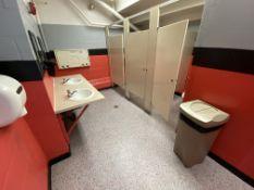Baby Changing Station & Trash Bin In Ladies Room