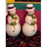 (2) Illuminated Snowmen
