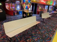 (2) 8' Molded Metal Base Benches