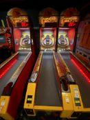 Baytek Games Fireball Fury #AAGN-FF/110V Token Operated Skee Ball Game, 50-60Hz, 2Amps, w/Balls &