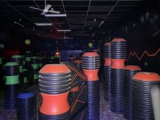 {LOT} Barriers Throughout Laser Tag Area