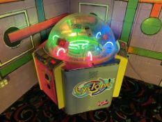 Ice Cyclone Machine, 3 Player, Ticket Dispensing Game of Chance, Coin Operated Neon Lit