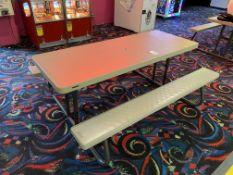 (3) Lifetime 6' Plastic Adjustable Picnic Benches