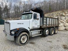 2000 Western Star 12 Wheel Dump w/ Drop Axle, Cat Diesel C10 6 CYL. 78,000 GVWR, ODOM 323,142,