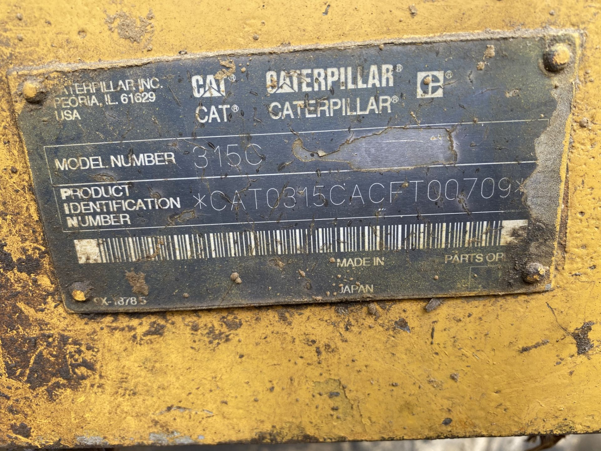 Caterpillar Excavator 315CL 1YD Bucket Stationary w/Thumb, Hrs: 8,003, 3YR Old Swing Motor Bushings, - Image 7 of 10