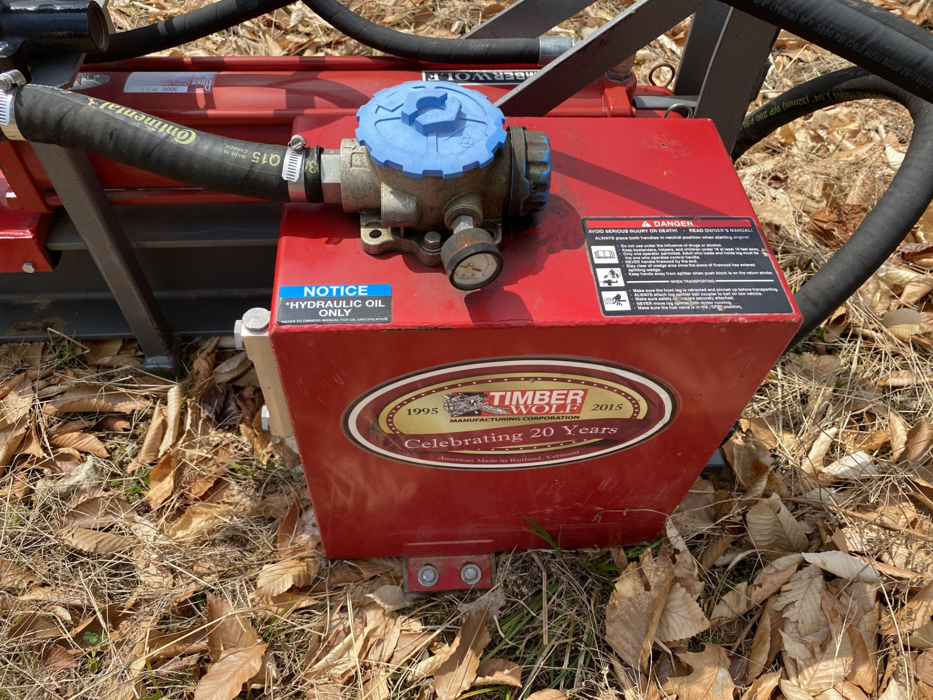 Timber Wolf Log Splitter w/Prince Attachment. 3000 PSI, Bore 5, 3 Part Attachment, 23 Stroke, - Image 3 of 4