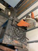 Rigid Chop Saw w/Table - Steel Base/Wood Top