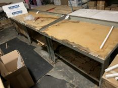 (2) All Steel Work Benches - 1 is 3' and 1 is 8'