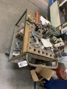{LOT} Cart w/Tooling, Collets & Bits