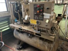 Curtis 25 HP #RS25T Screw Air Compressor, 104CFM, 200 V, 125 PSI, 78 Amp, Hrs: 35,235, S/N: