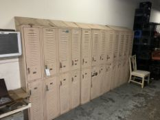 {LOT} Asst. Sized Lockers in 2 Areas - (43 Quantity)