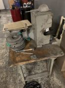 Grinder w/Steel Base & Wood Top Bench