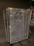 (4) Covid Plastic Screen Dividers - Approx. 6'H x 4'W