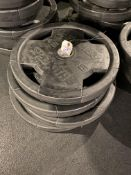 {LOT} (4) 45 Lbs. Plates of Hammer Strength Rubber Coated Weight Plates (180 Lb. Total)
