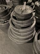 {LOT} Set of Hammer Strength Rubber Coated Weight Plates (315 Lbs. Total) c/o: (4) 45 Lb. Plates, (